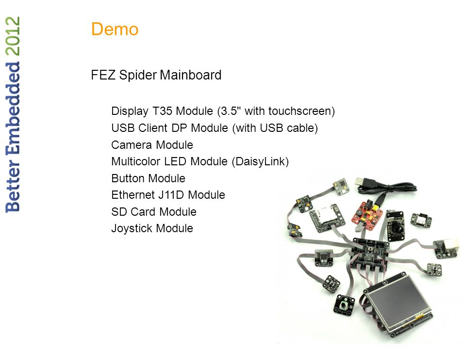 Demo FEZ Spider Mainboard Display T35 Module (3.5