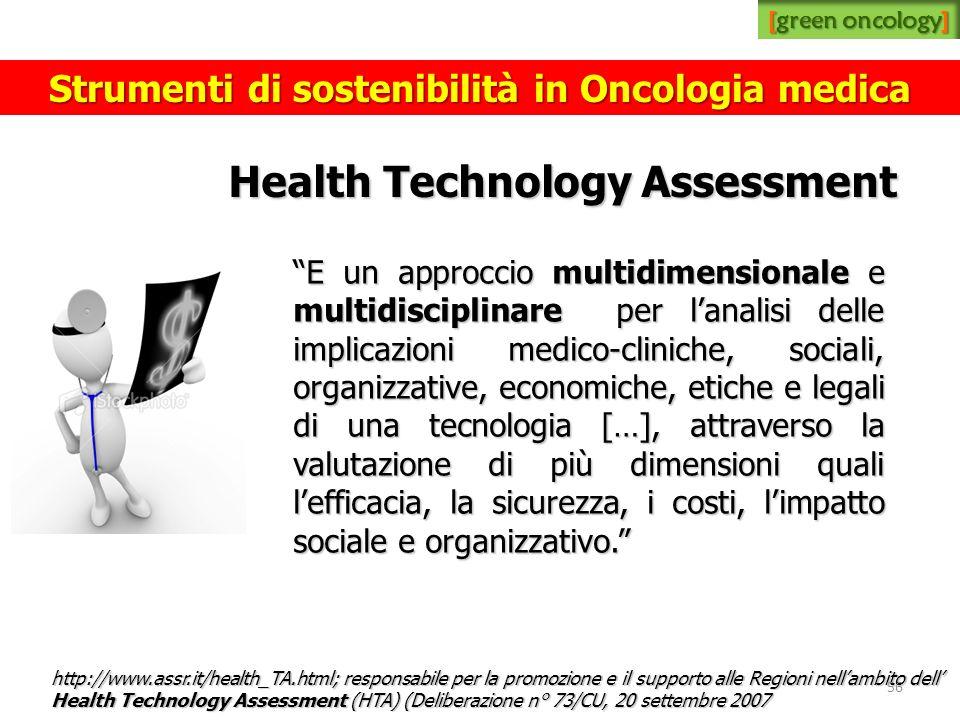 Health Technology Assessment E un approccio multidimensionale e multidisciplinare per lanalisi delle implicazioni medico-cliniche, sociali, organizzat