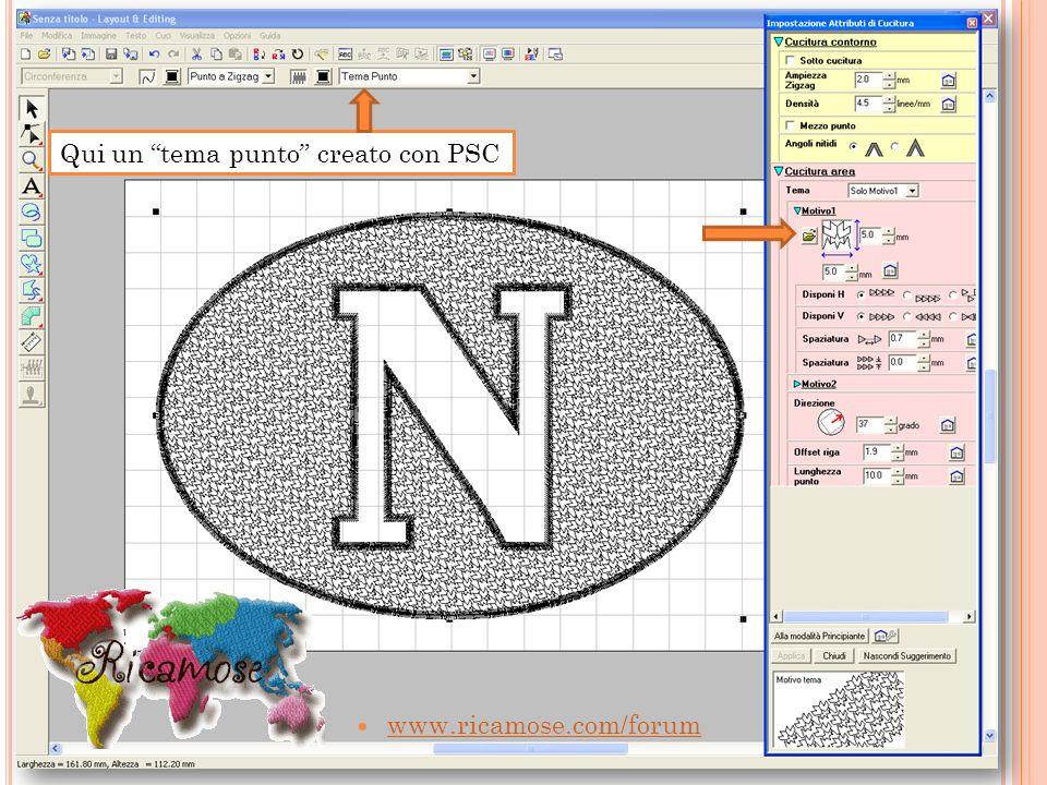 www.ricamose.com/forum Qui un tema punto creato con PSC