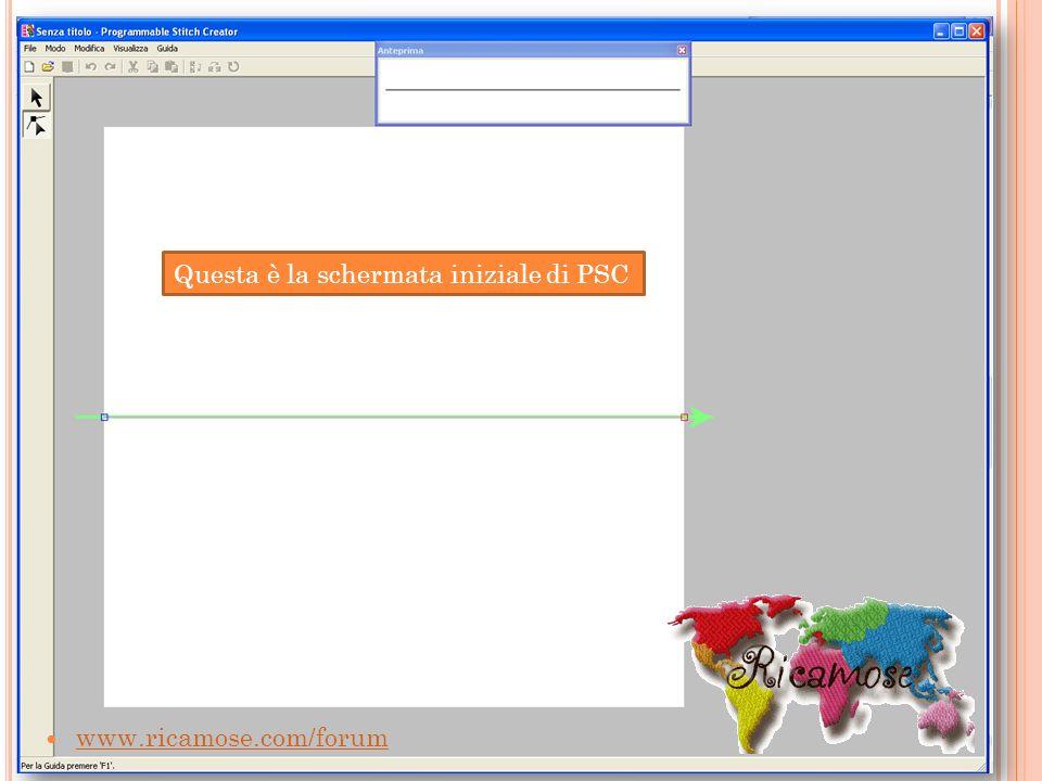 www.ricamose.com/forum Questa è la schermata iniziale di PSC