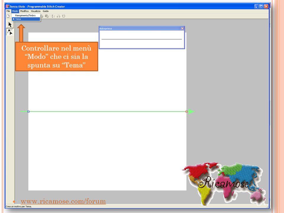 www.ricamose.com/forum Controllare nel menù Modo che ci sia la spunta su Tema
