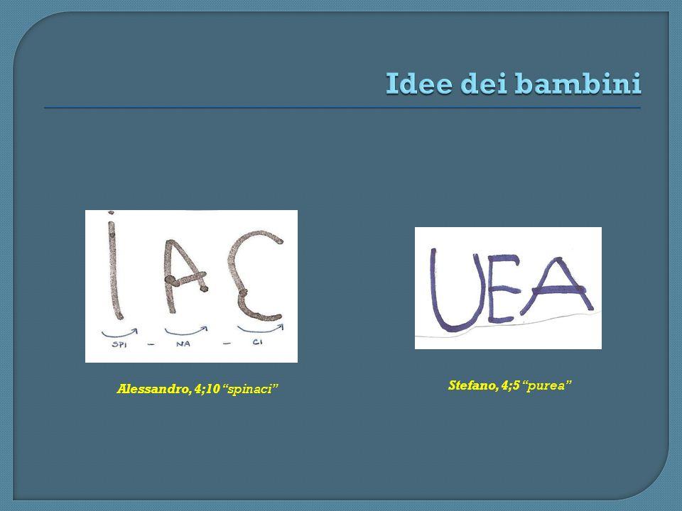 Alessandro, 4;10 spinaci Stefano, 4;5 purea