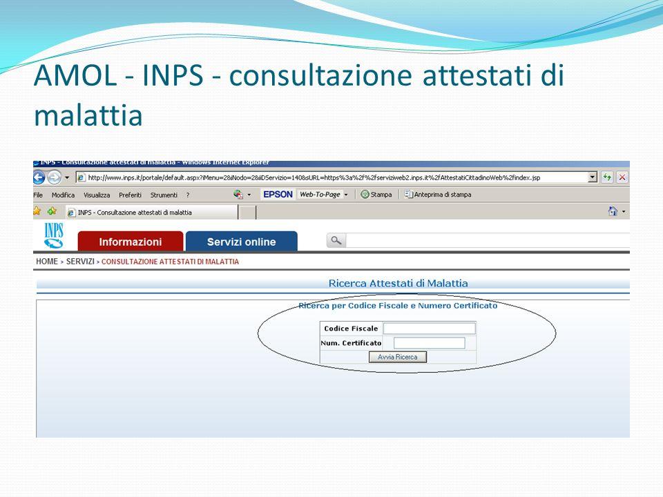 AMOL - INPS - consultazione attestati di malattia