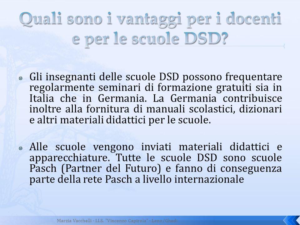 Gli insegnanti delle scuole DSD possono frequentare regolarmente seminari di formazione gratuiti sia in Italia che in Germania. La Germania contribuis