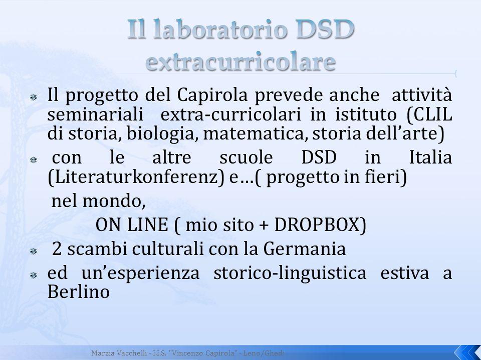 Il progetto del Capirola prevede anche attività seminariali extra-curricolari in istituto (CLIL di storia, biologia, matematica, storia dellarte) con