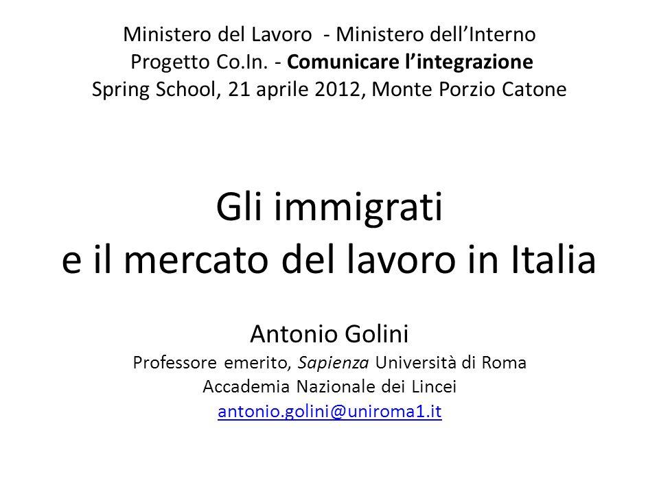 Ministero del Lavoro - Ministero dellInterno Progetto Co.In.