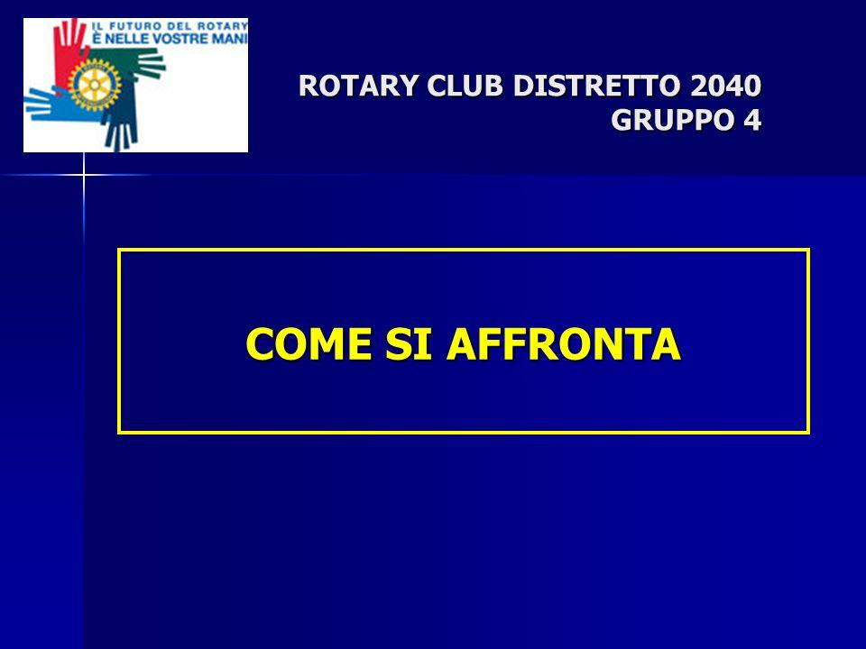 COME SI AFFRONTA ROTARY CLUB DISTRETTO 2040 GRUPPO 4