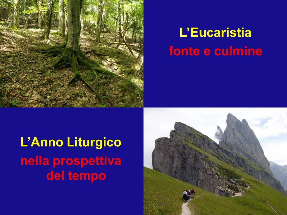LEucaristia fonte e culmine LAnno Liturgico nella prospettiva del tempo