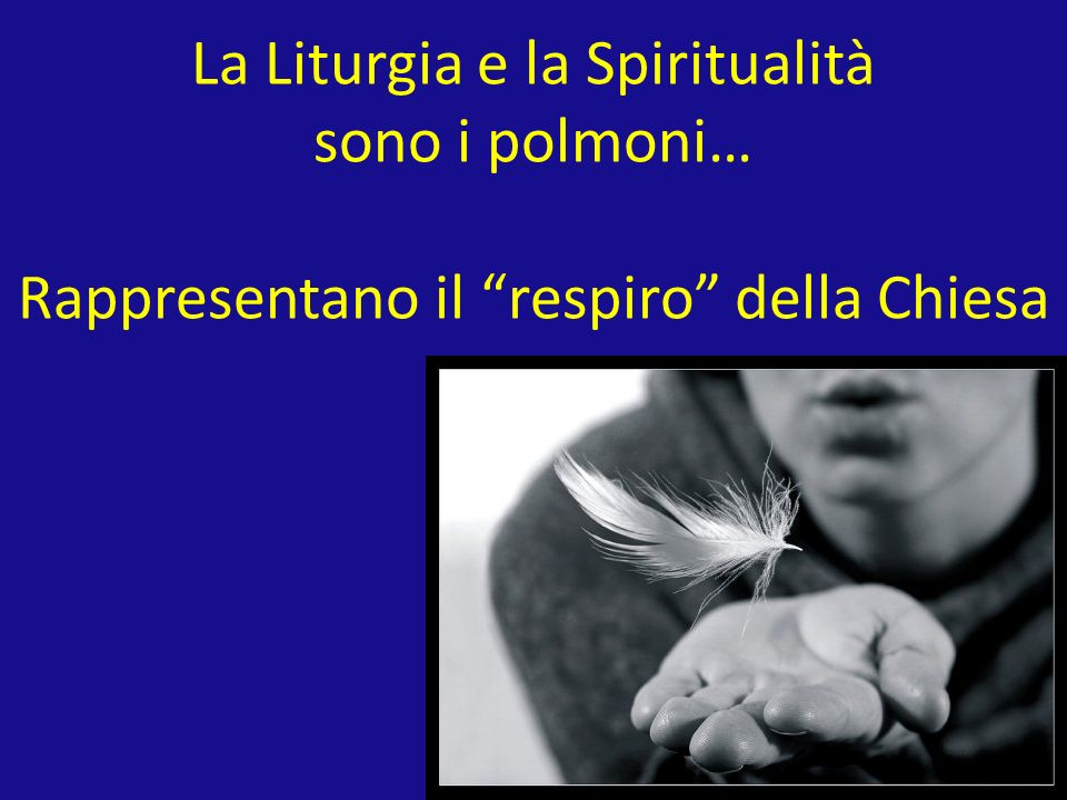 La Liturgia e la Spiritualità sono i polmoni… Rappresentano il respiro della Chiesa