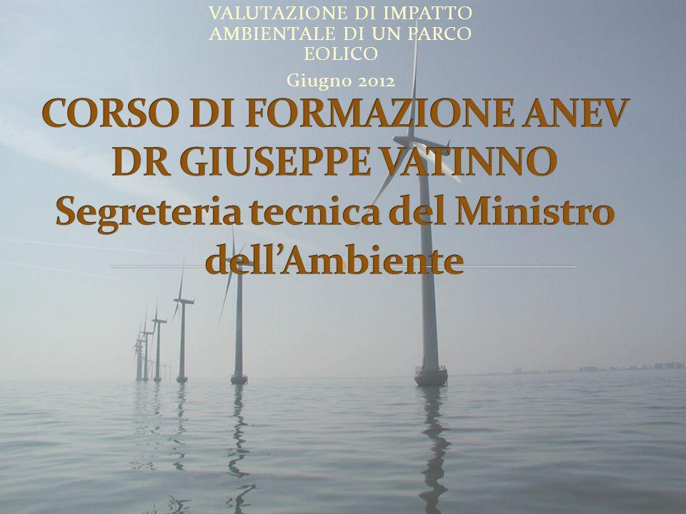 VALUTAZIONE DI IMPATTO AMBIENTALE DI UN PARCO EOLICO Giugno 2012