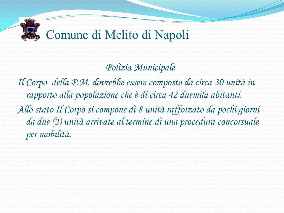 Comune di Melito di Napoli Polizia Municipale Il Corpo della P.M.