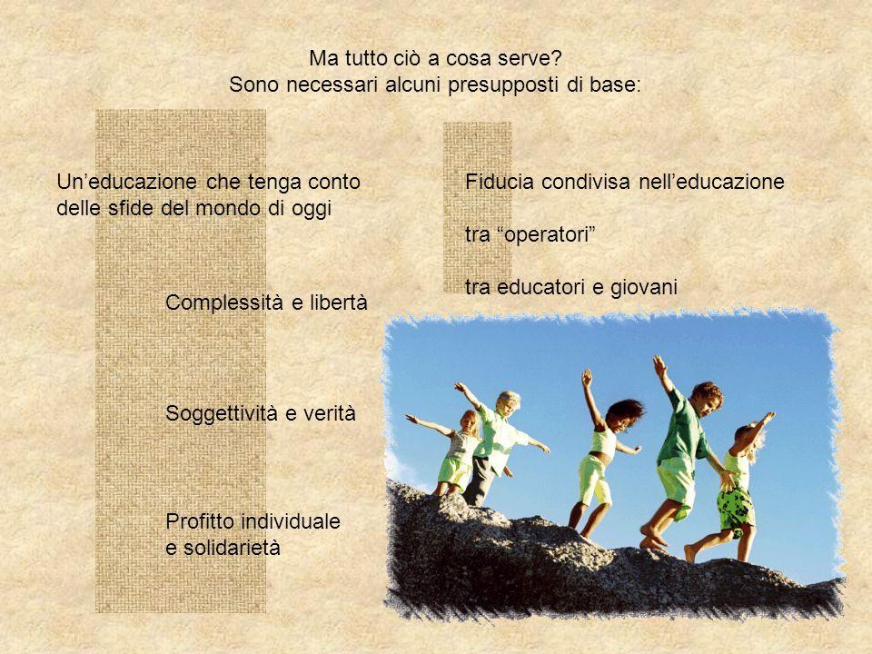 Il Sistema Preventivo trasforma sia leducatore che leducando in un protagonista cosciente,responsabile ed aperto alla condivisione