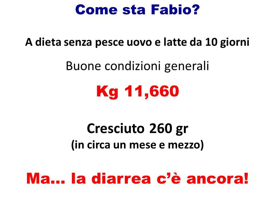 Come sta Fabio.