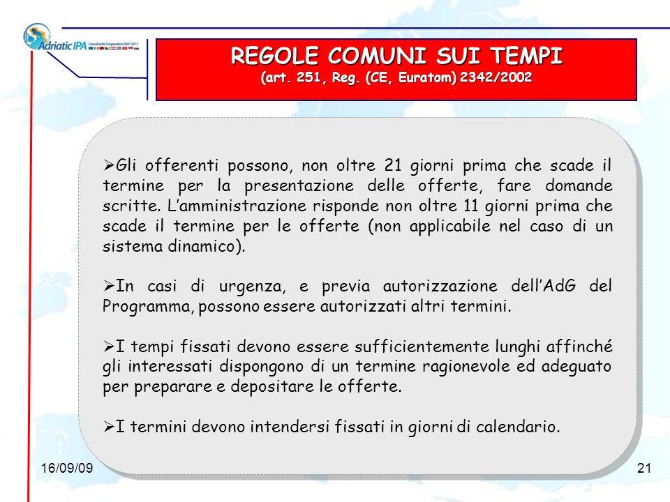 GARANZIE PER LAMM.AGGIUDICATRICE (art. 251, Reg.