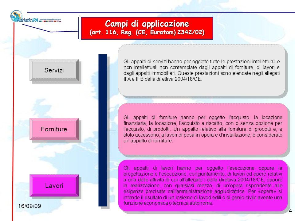 Appalti di studi e di assistenza tecnica (art.236, Reg.