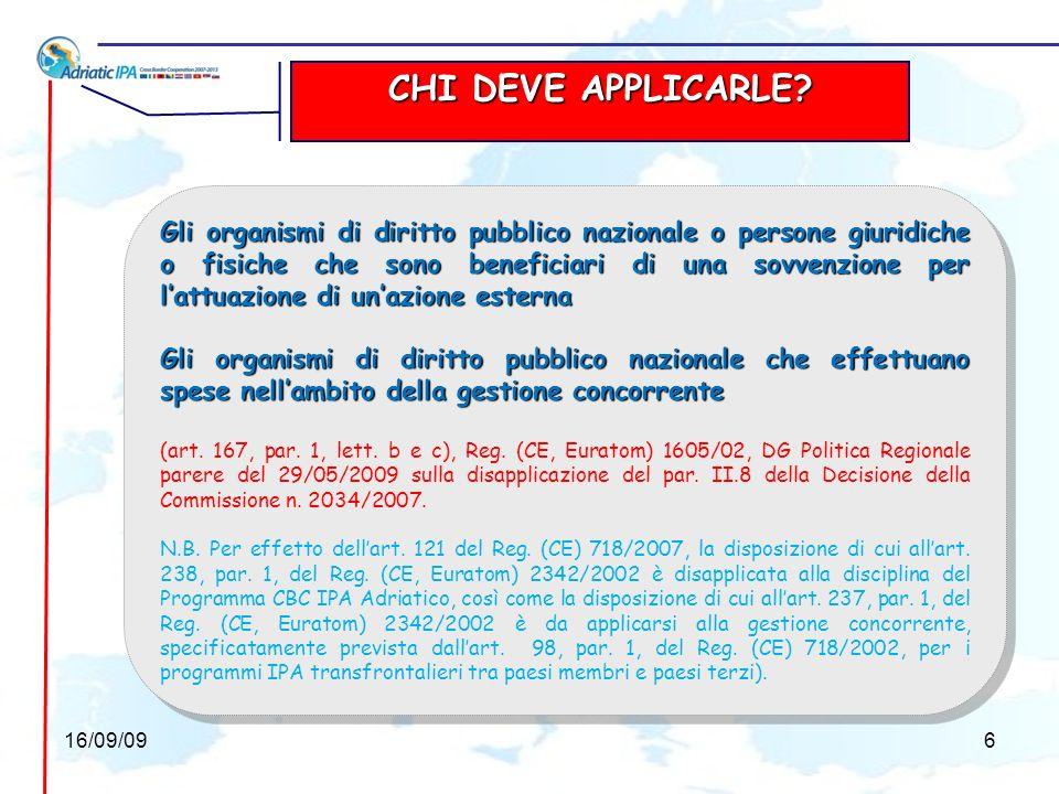 (art.121, par. 1, comma 2, Reg. (CE) 718/07) Le disposizioni ex Reg.