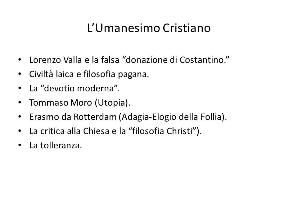 LUmanesimo Cristiano Lorenzo Valla e la falsa donazione di Costantino.