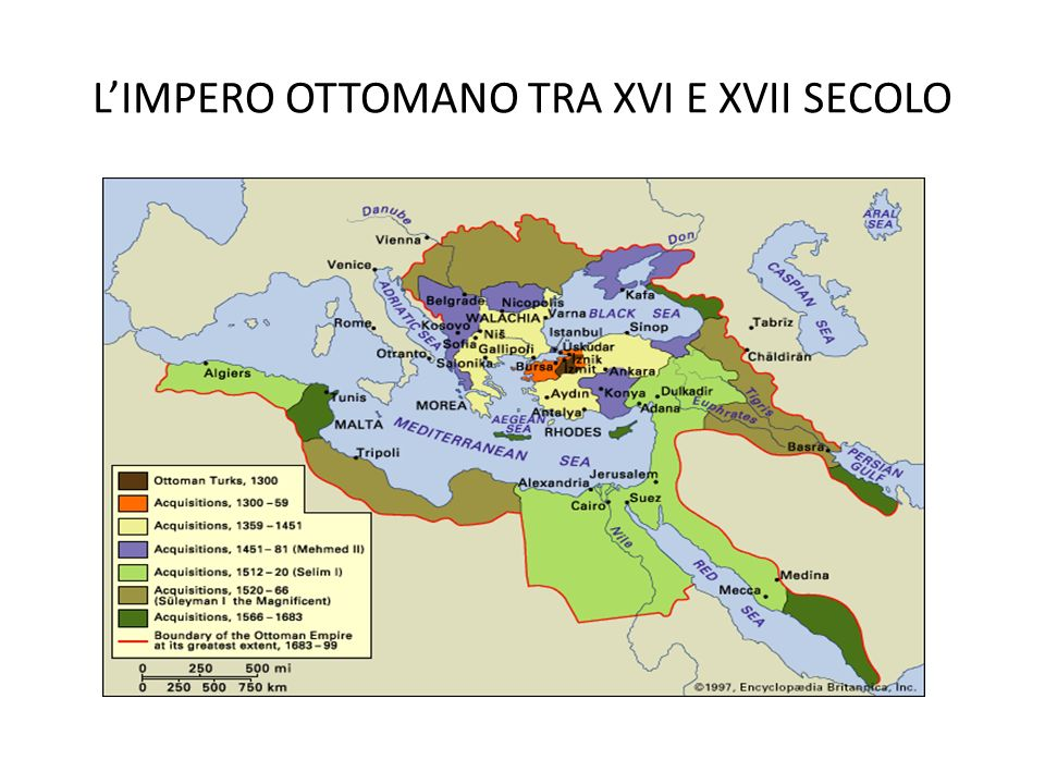 LIMPERO OTTOMANO TRA XVI E XVII SECOLO