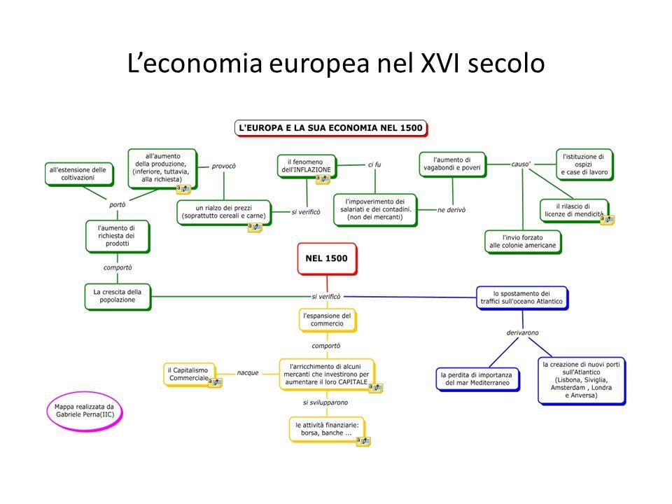 Leconomia europea nel XVI secolo