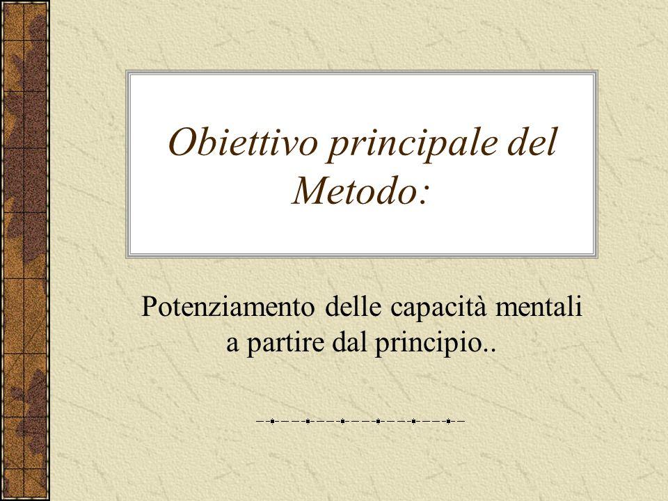 Obiettivo principale del Metodo: Potenziamento delle capacità mentali a partire dal principio..