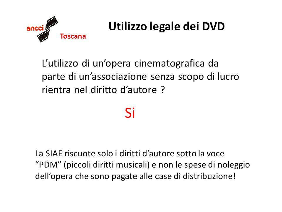 Toscana Utilizzo legale dei DVD La SIAE riscuote solo i diritti dautore sotto la voce PDM (piccoli diritti musicali) e non le spese di noleggio dellopera che sono pagate alle case di distribuzione.
