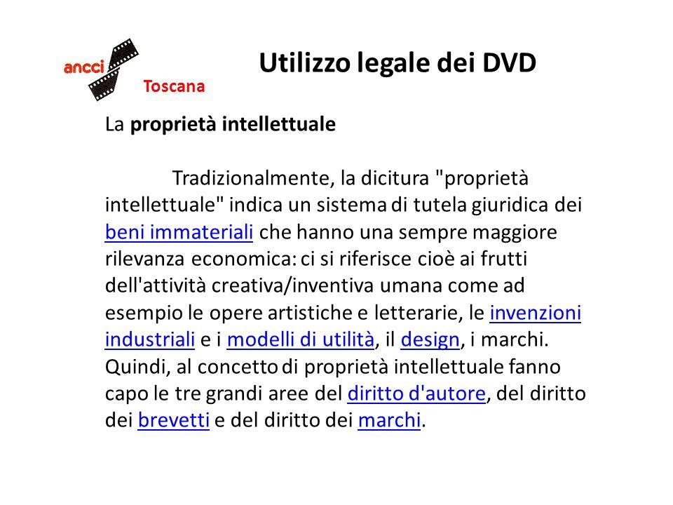 Toscana Utilizzo legale dei DVD La proprietà intellettuale Tradizionalmente, la dicitura