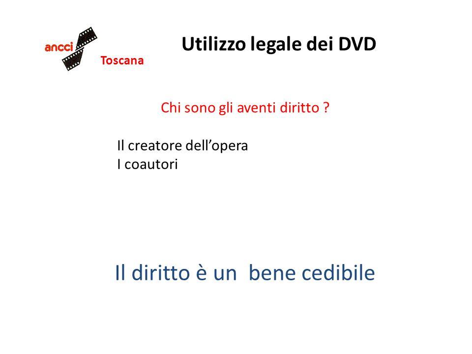 Toscana Utilizzo legale dei DVD Chi sono gli aventi diritto ? Il creatore dellopera I coautori Il diritto è un bene cedibile