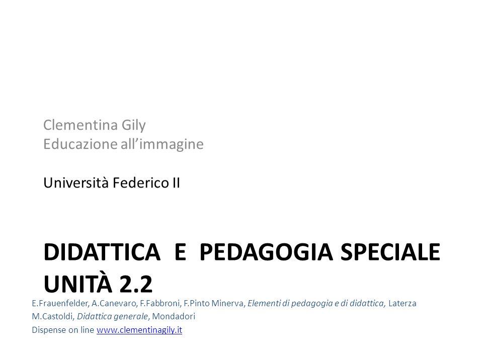 DIDATTICA E PEDAGOGIA SPECIALE UNITÀ 2.2 Clementina Gily Educazione allimmagine Università Federico II E.Frauenfelder, A.Canevaro, F.Fabbroni, F.Pinto