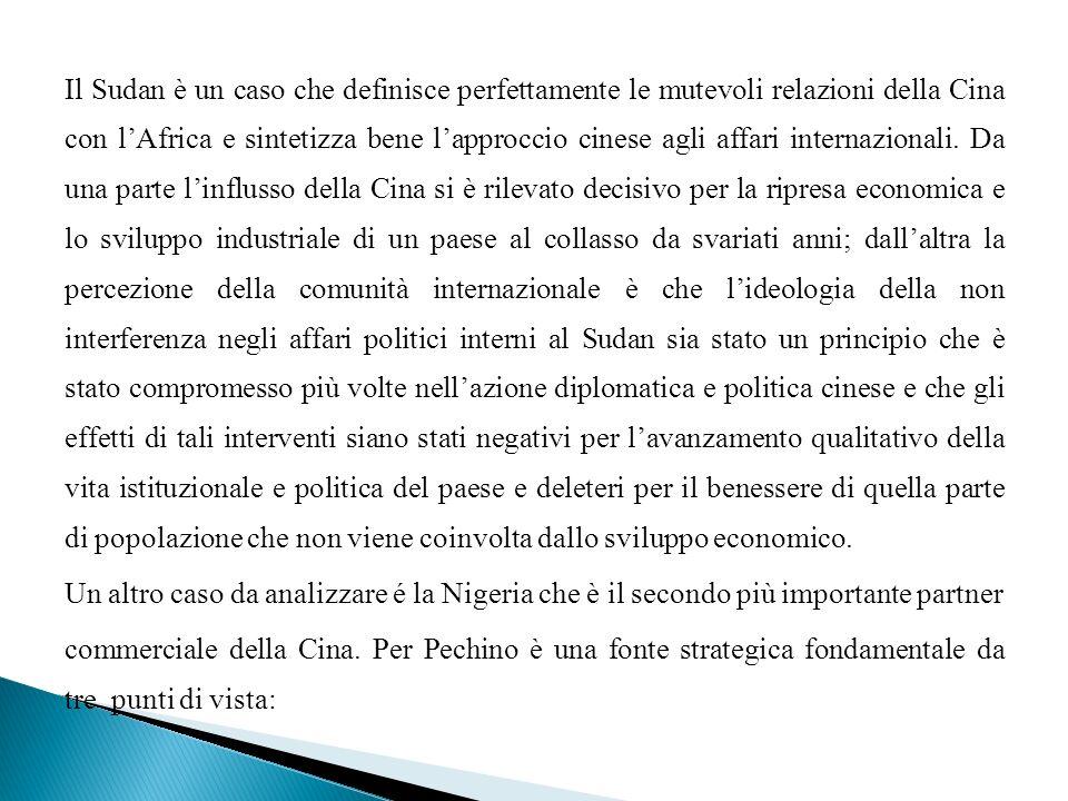 Il Sudan è un caso che definisce perfettamente le mutevoli relazioni della Cina con lAfrica e sintetizza bene lapproccio cinese agli affari internazio