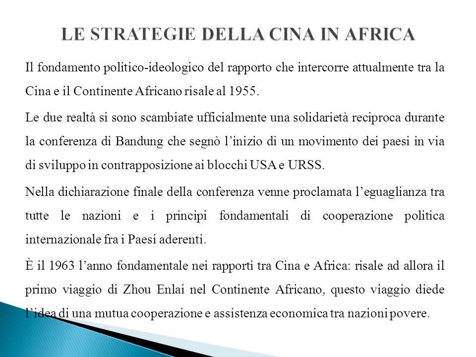 Il fondamento politico-ideologico del rapporto che intercorre attualmente tra la Cina e il Continente Africano risale al 1955.