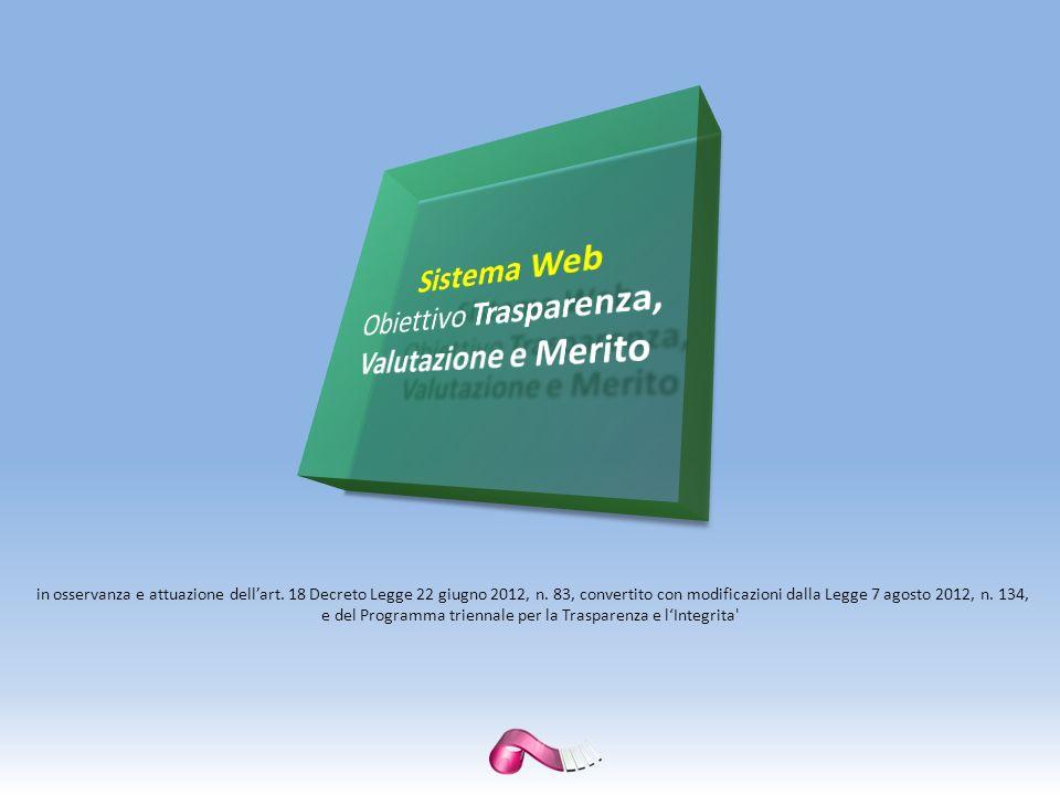 Il Sistema « Obiettivo Trasparenza, Valutazione e Merito» è una soluzione interamente Web che consente di dare piena attuazione a numerosi aspetti della Normativa vigente in ambito di Pubblici Appalti, Acquisti e Affidamenti, Trasparenza Amministrativa, Protocollo e Gestione Documentale nella Pubblica Amministrazione Italiana.