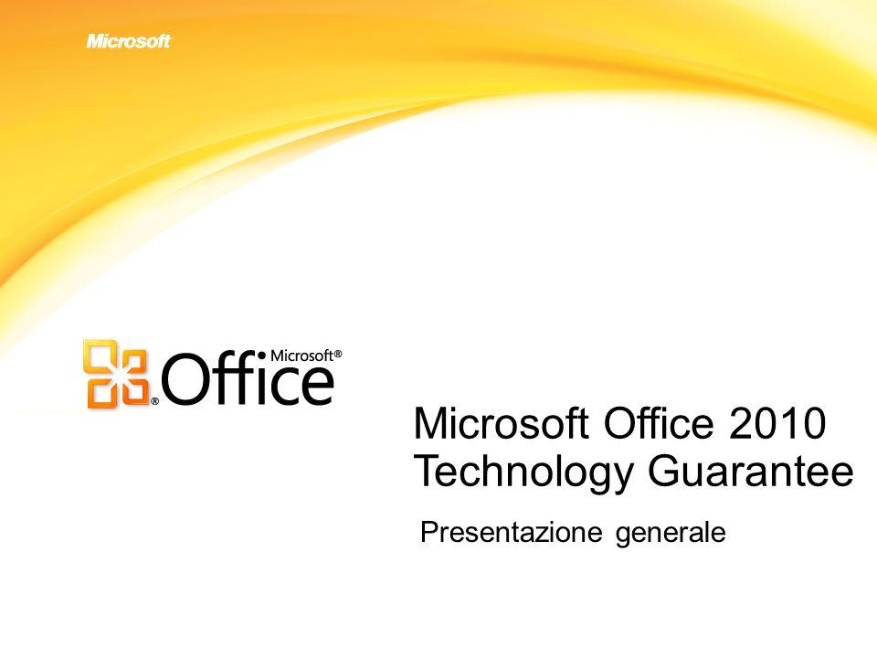 Microsoft Office 2010 Technology Guarantee Presentazione generale