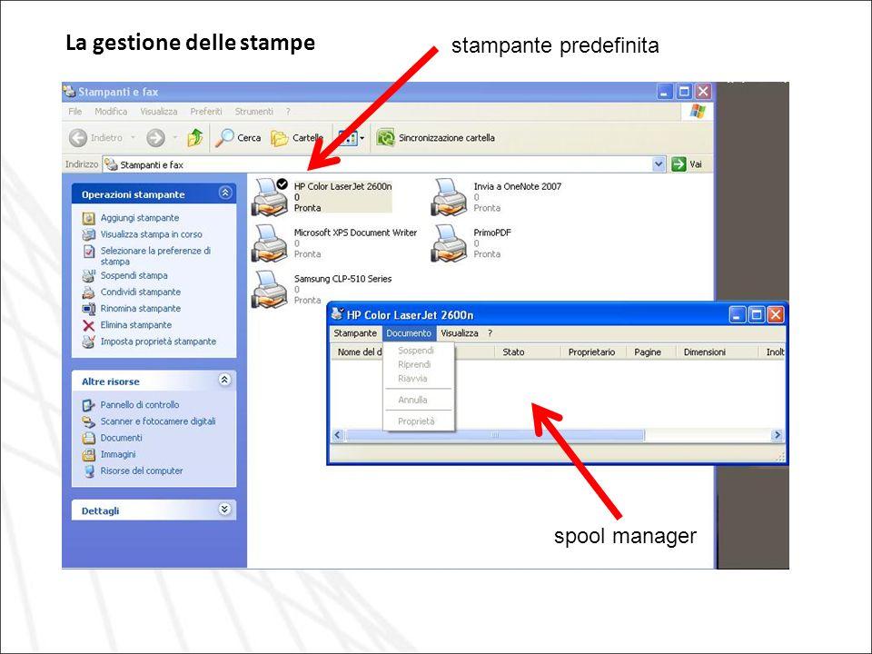 La gestione delle stampe stampante predefinita spool manager