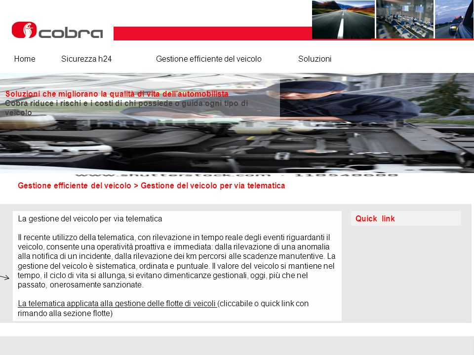 Febbraio 2013 www.cobra-at.com/it © 2013 Cobra Italia SpA All rights reserved Cobra ItaliaI nostri clientiEurosatArea InstallatoriNews Gestione effici