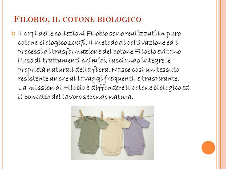 F ILOBIO, IL COTONE BIOLOGICO Il capi delle collezioni Filobio sono realizzati in puro cotone biologico 100%.