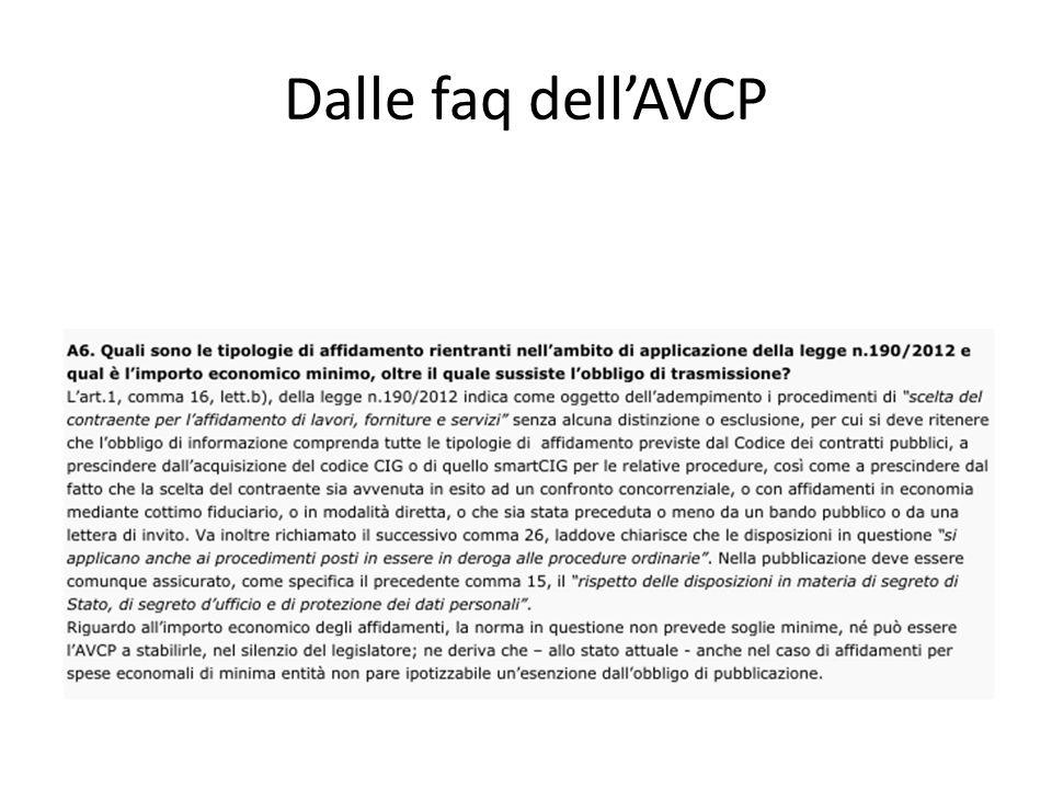 Dalle faq dellAVCP