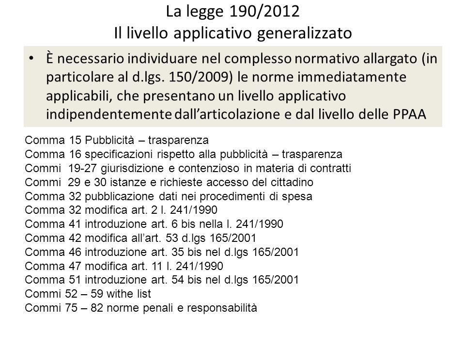 Legge 190/2012 – art.1 c.