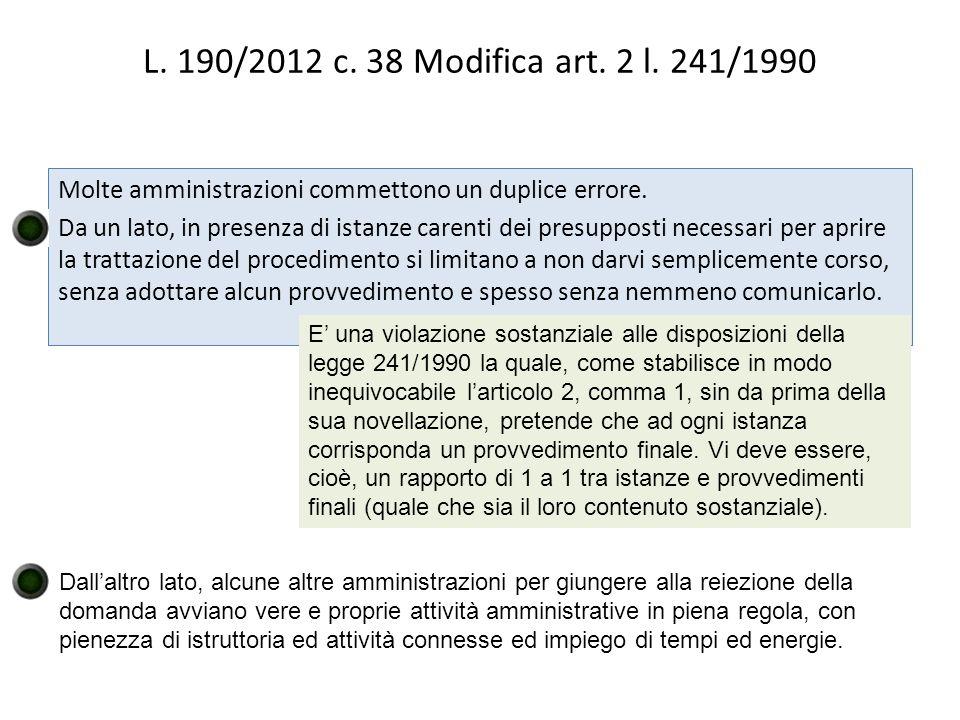 L.190/2012 c. 38 Modifica art. 2 l.
