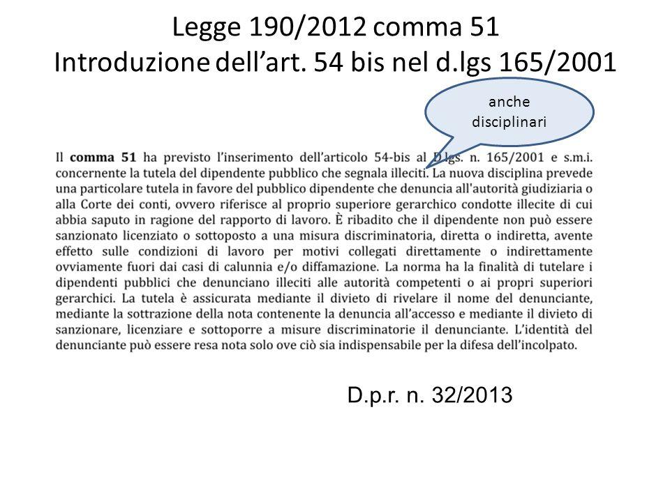 Legge 190/2012 comma 62 modifica la legge 20/1994 inserendo commi 1-sexies e 1-septies allart.