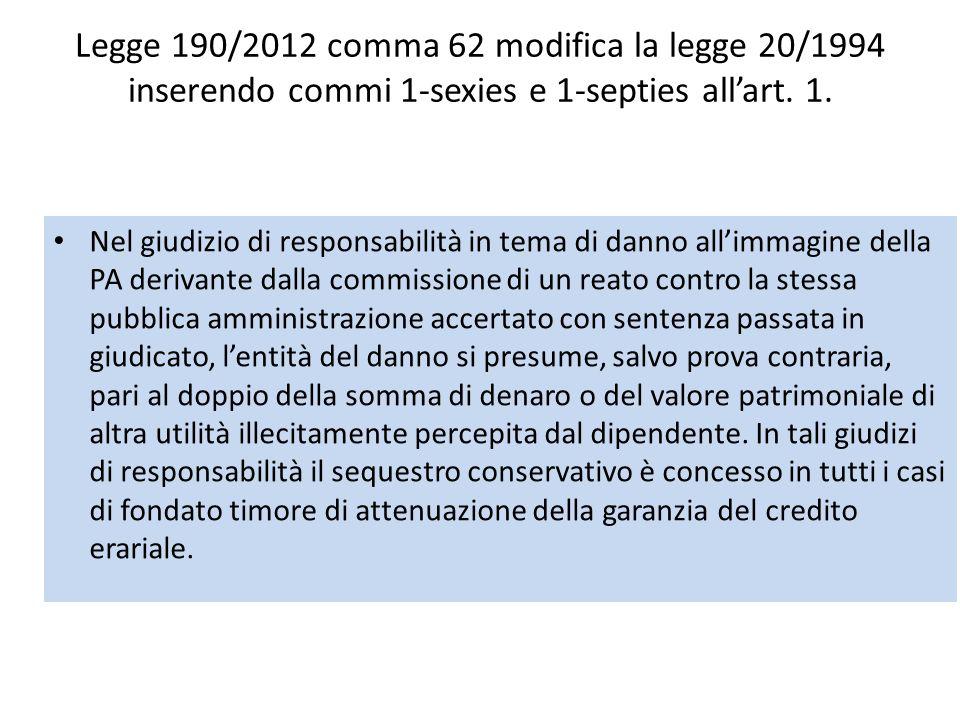 Legge 190/2012 Modifiche al codice penale Le disposizioni di cui al comma 75 ss.