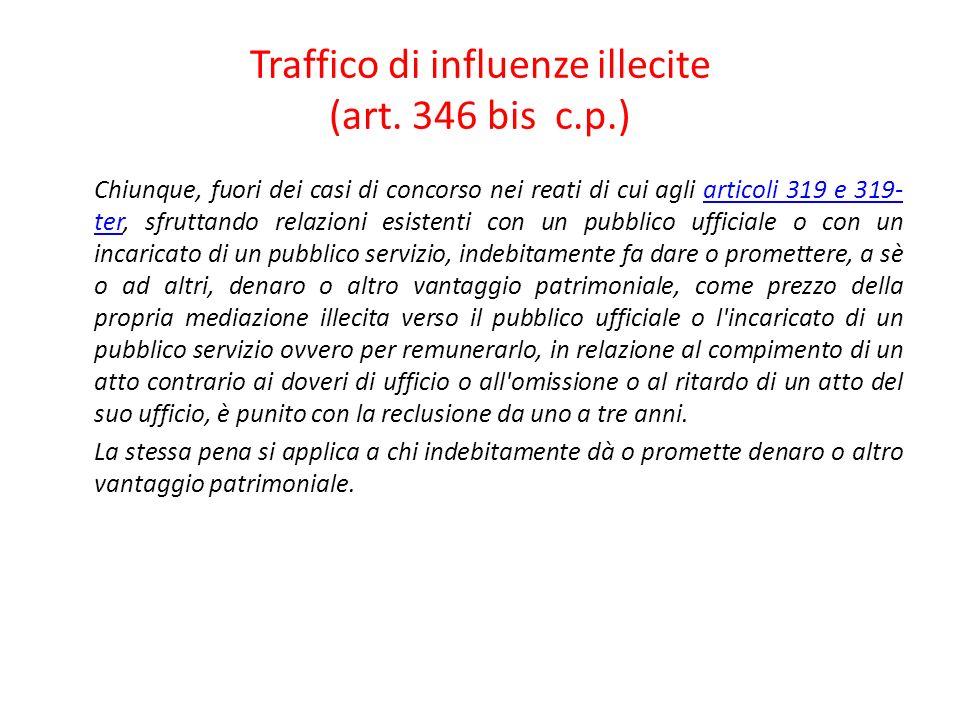 50 Traffico di influenze illecite.