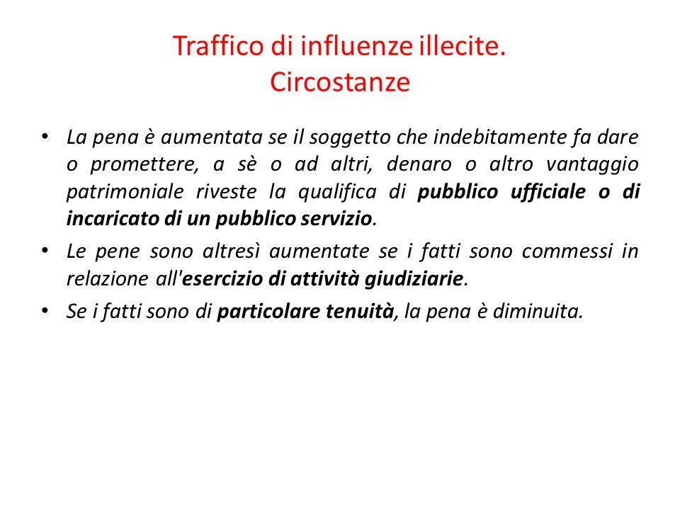51 Traffico di influenze illecite.