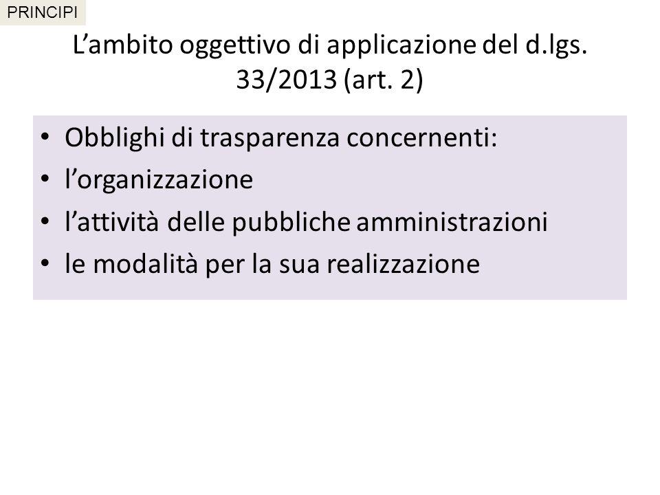 Pubblicità e diritto alla conoscibilità (art.