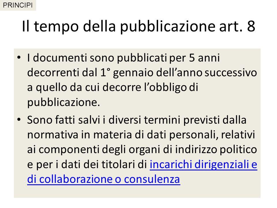 La sezione «Amministrazione Trasparente» art.
