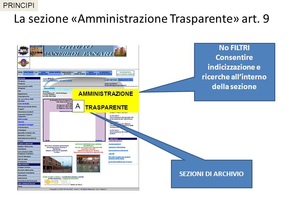 Programma triennale per la trasparenza e l integrità Art.