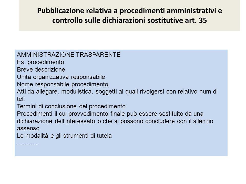 Pubblicazione delle informazioni necessarie per l effettuazione di pagamenti informatici Art.