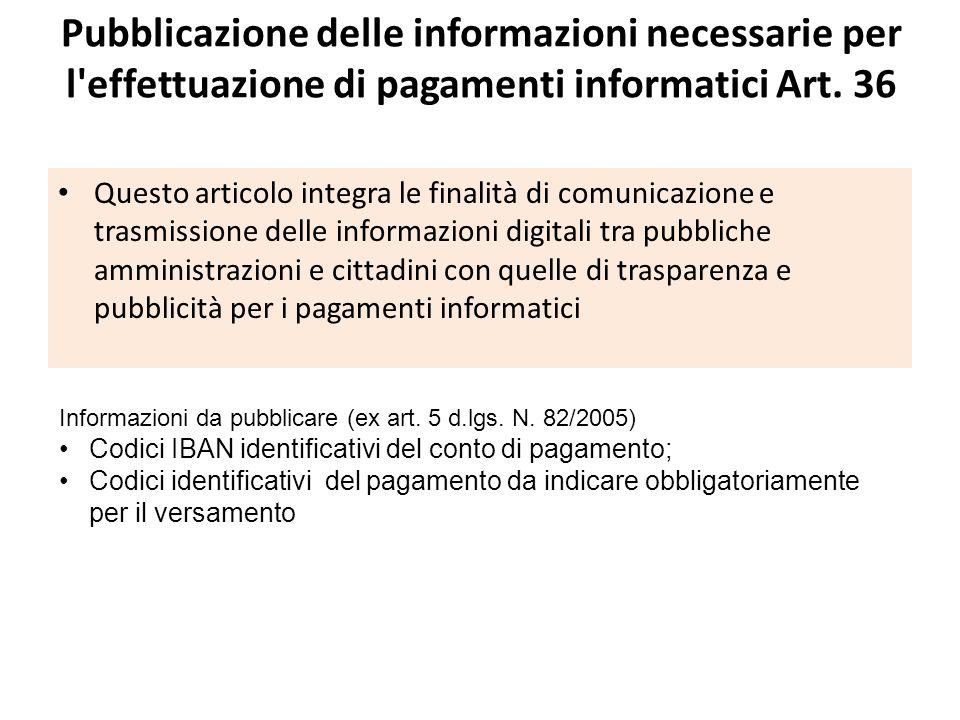 Capo V - Obblighi di pubblicazione in settori speciali