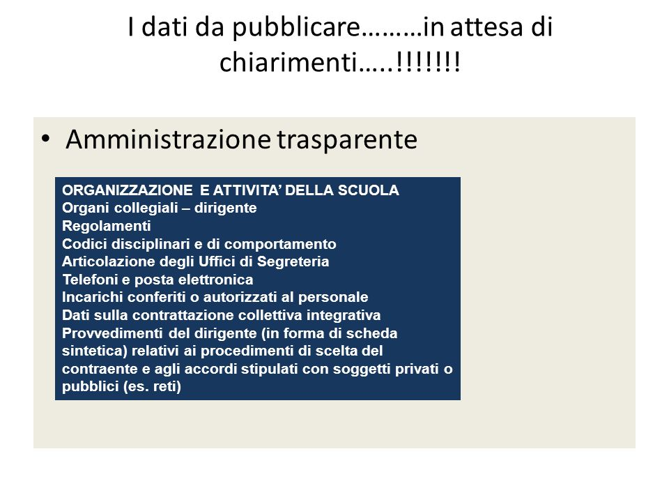 Amministrazione trasparente USO DELLE RISORSE PUBBLICHE Programma annuale Bilancio consuntivo
