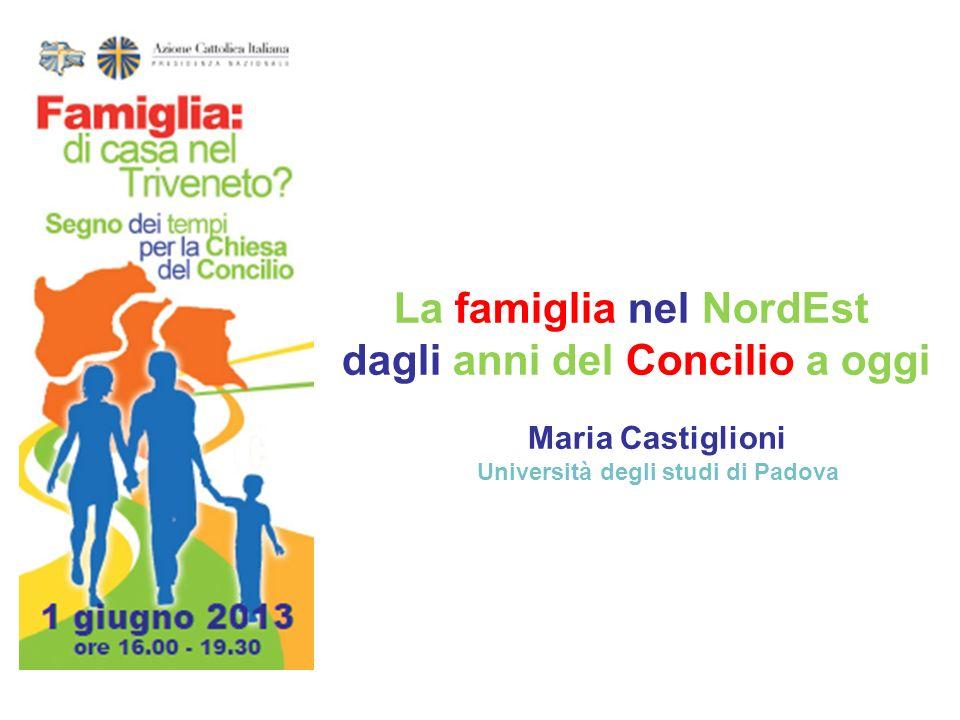 La famiglia nel NordEst dagli anni del Concilio a oggi Maria Castiglioni Università degli studi di Padova