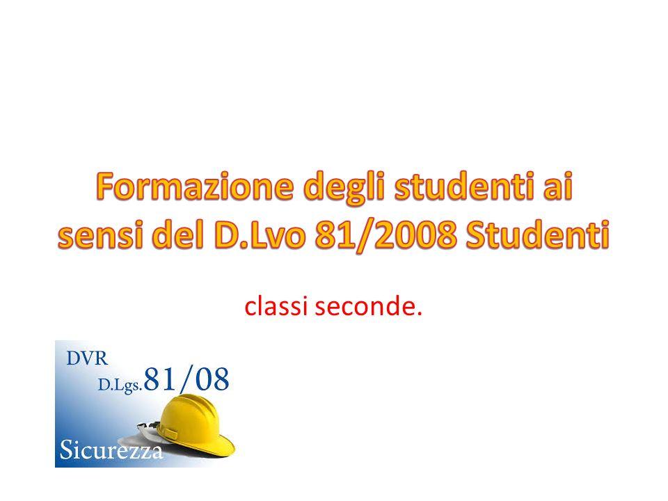 LEGISLAZIONE In Italia la salute e la sicurezza sul lavoro sono regolamentate dal Decreto Legislativo n.